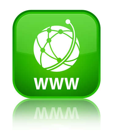 WWW (global network icon) green square button