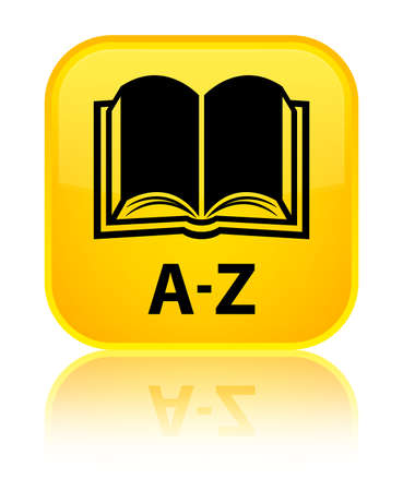 az: A-Z (book icon) yellow square button Stock Photo