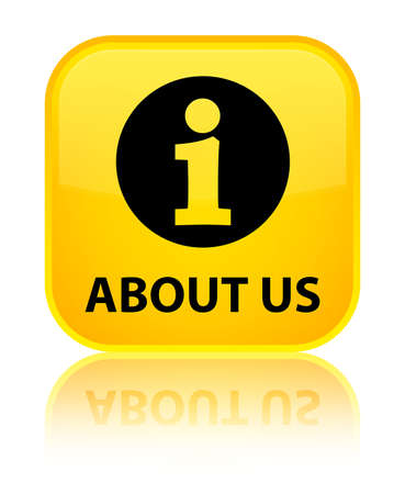 'about us': About us yellow square button
