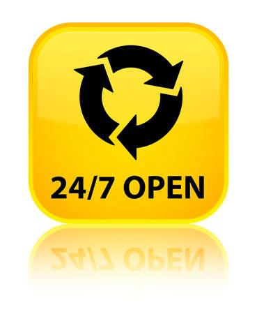 refresh button: 247 open (refresh icon) yellow square button