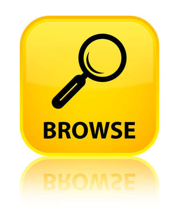 Browse yellow square button photo