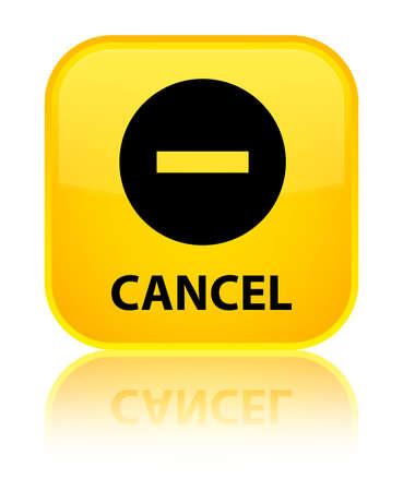disagree: Cancel yellow square button Stock Photo