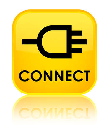 network connection plug: Connect yellow square button