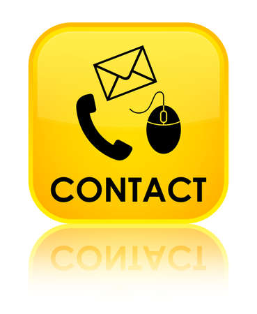 flysheet: Contact (phone, email and mouse icon) yellow square button
