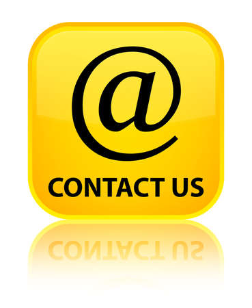 Contact us (email address icon) yellow square button photo