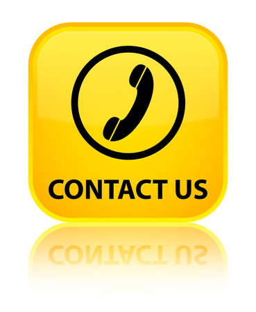 contact us phone: Contact us (phone icon round border) yellow square button