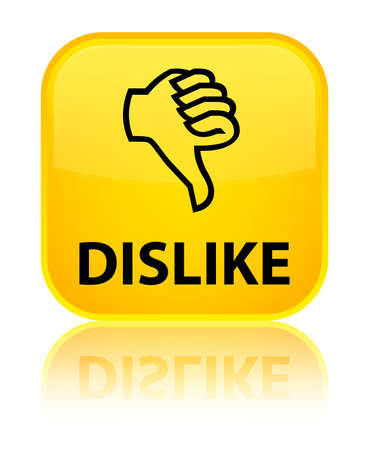 disapprove: Dislike yellow square button