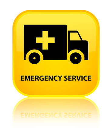 heathcare: Emergency service yellow square button