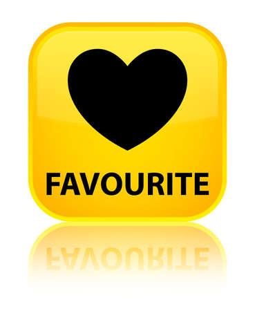 favourite: Favourite (heart icon) yellow square button
