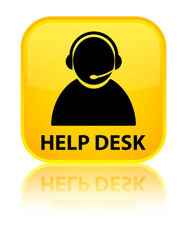 help desk: Help desk (customer care icon) yellow square button
