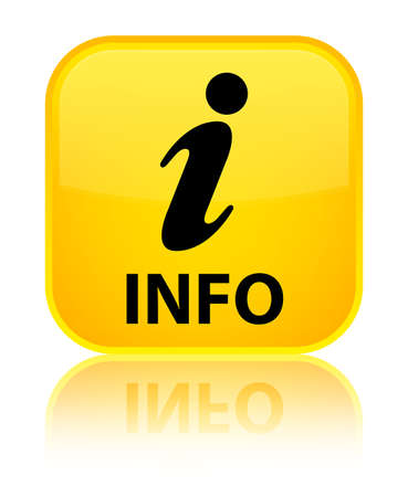 inform information: Info yellow square button