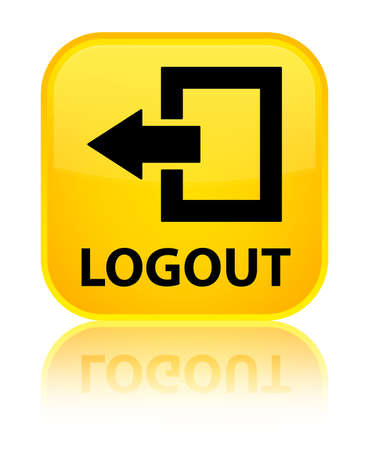 logout: Logout yellow square button