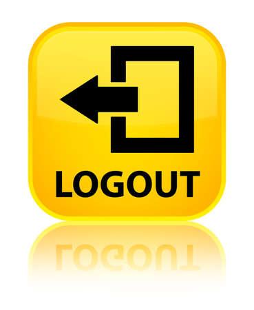 shut out: Logout yellow square button