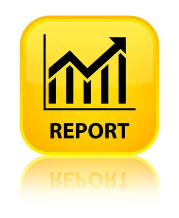 report icon: Report (statistics icon) yellow square button