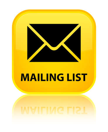 mailing: Mailing list yellow square button