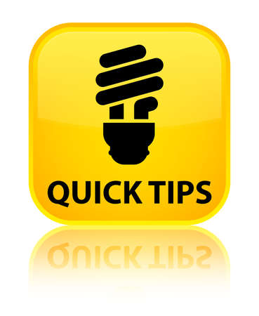 hints: Quick tips (bulb icon) yellow square button