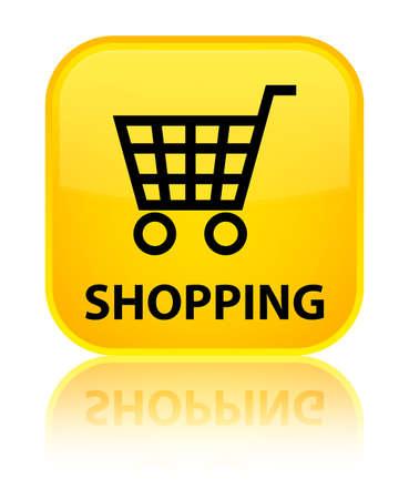 technology transaction: Shopping yellow square button