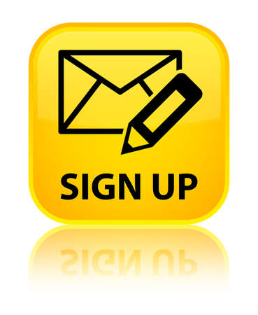 registry: Sign up (edit mail icon) yellow square button