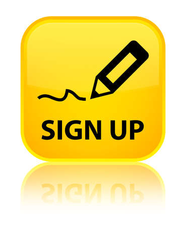 registry: Sign up yellow square button