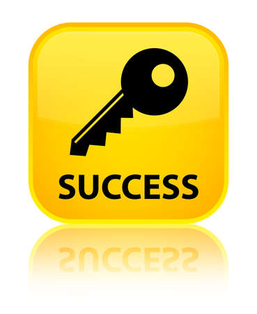 success key: Success (key icon) yellow square button