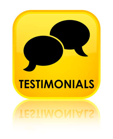 authenticate: Testimonials (chat icon) yellow square button