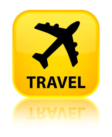 airway: Travel (plane icon) yellow square button