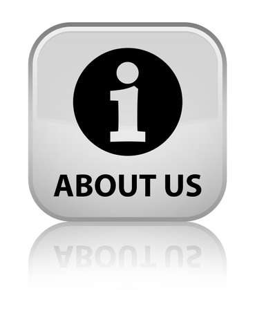 'about us': About us white square button