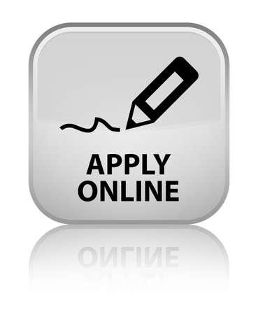 registry: Apply online (edit pen icon) white square button Stock Photo