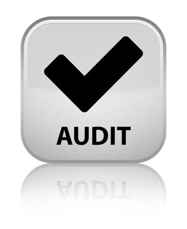 validate: Audit (validate icon) white square button