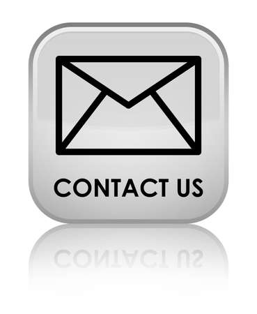 email contact: Contact us (email icon) white square button