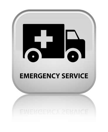 emergency button: Emergency service white square button