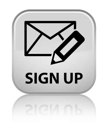 registry: Sign up (edit mail icon) white square button