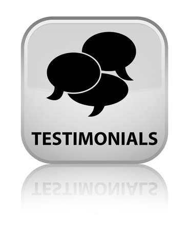 authenticate: Testimonials (comments icon) white square button