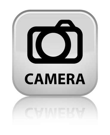 Camera white square button Stock Photo