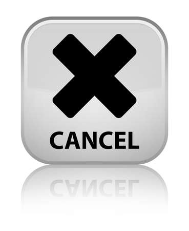 cancel: Cancel white square button Stock Photo