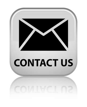 Contact us (email icon) white square button photo