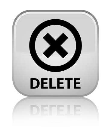 delete: Delete white square button