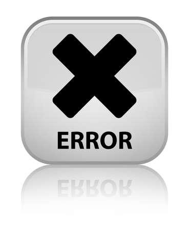 cancellation: Error (cancel icon) white square button Stock Photo