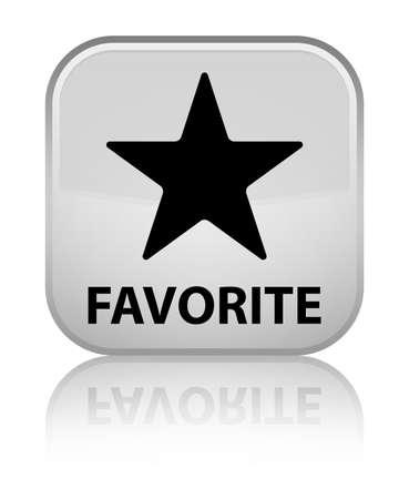 favorite: Favorite (star icon) white square button