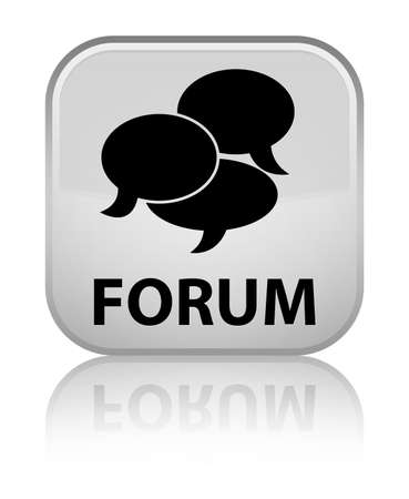 comments: Forum (comments icon) white square button
