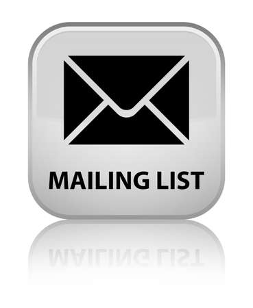 mailing: Mailing list white square button