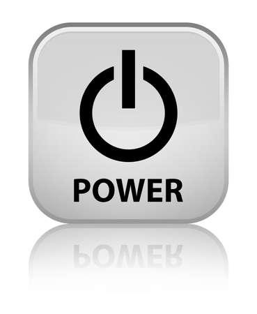 Power white square button