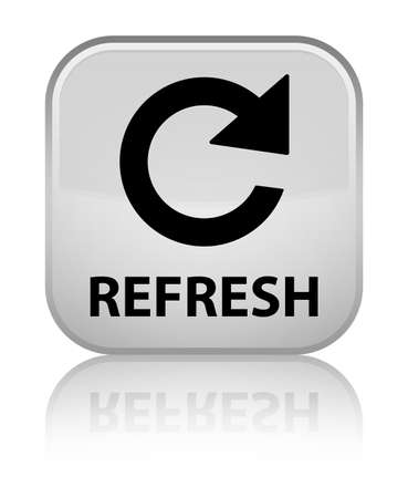 Refresh (rotate arrow icon) white square button