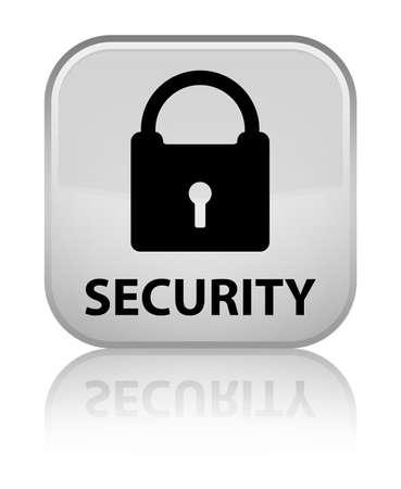 key hole shape: Security (padlock icon) white square button