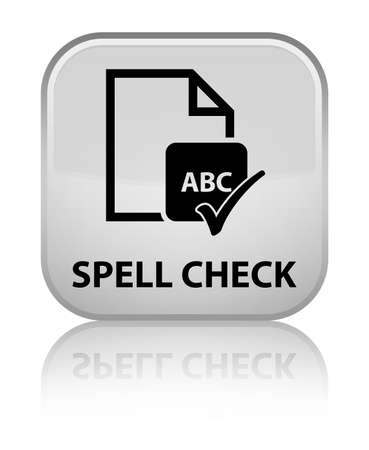 spell: Spell check document white square button