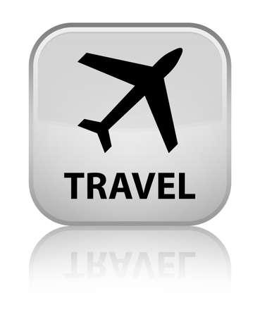 airway: Travel (plane icon) white square button