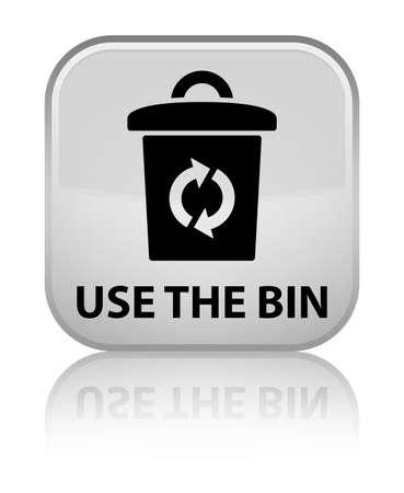 Use the bin white square button photo