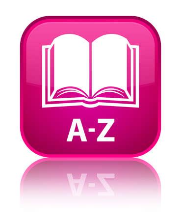 az: A-Z (book icon) pink square button