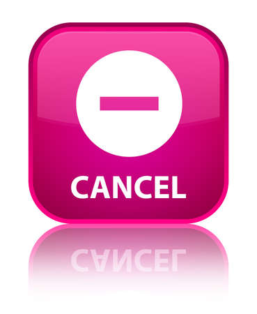 disagree: Cancel pink square button
