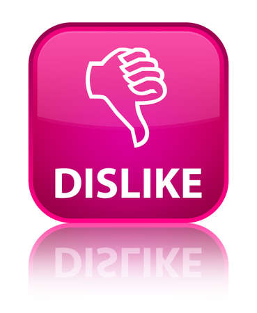 disapprove: Dislike pink square button
